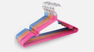 Clothes rack plastic powder